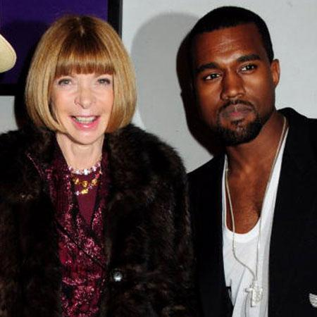 //kanye lunches e and lectures e anna wintour