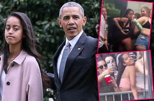 //Malia Obama Butt Twerking Lollapalooza Most Shocking Party Girl Photos Exposed pp