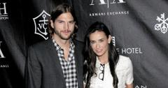 Ashton Kutcher Says He & Ex-Wife Demi Moore Don't Hang Out