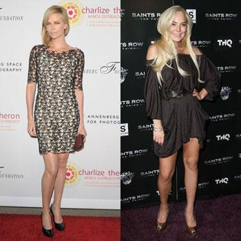 //charlize theron lindsay lohan best worst
