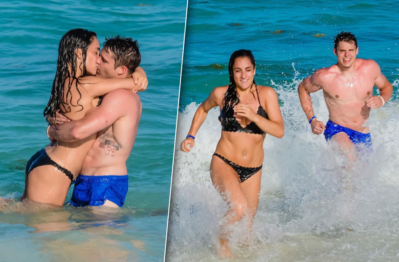 Jordyn Wieber Kisses Boyfriend Bikini