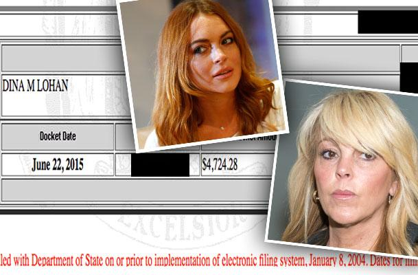 //dina lohan debt house foreclosure school state tax liens pp