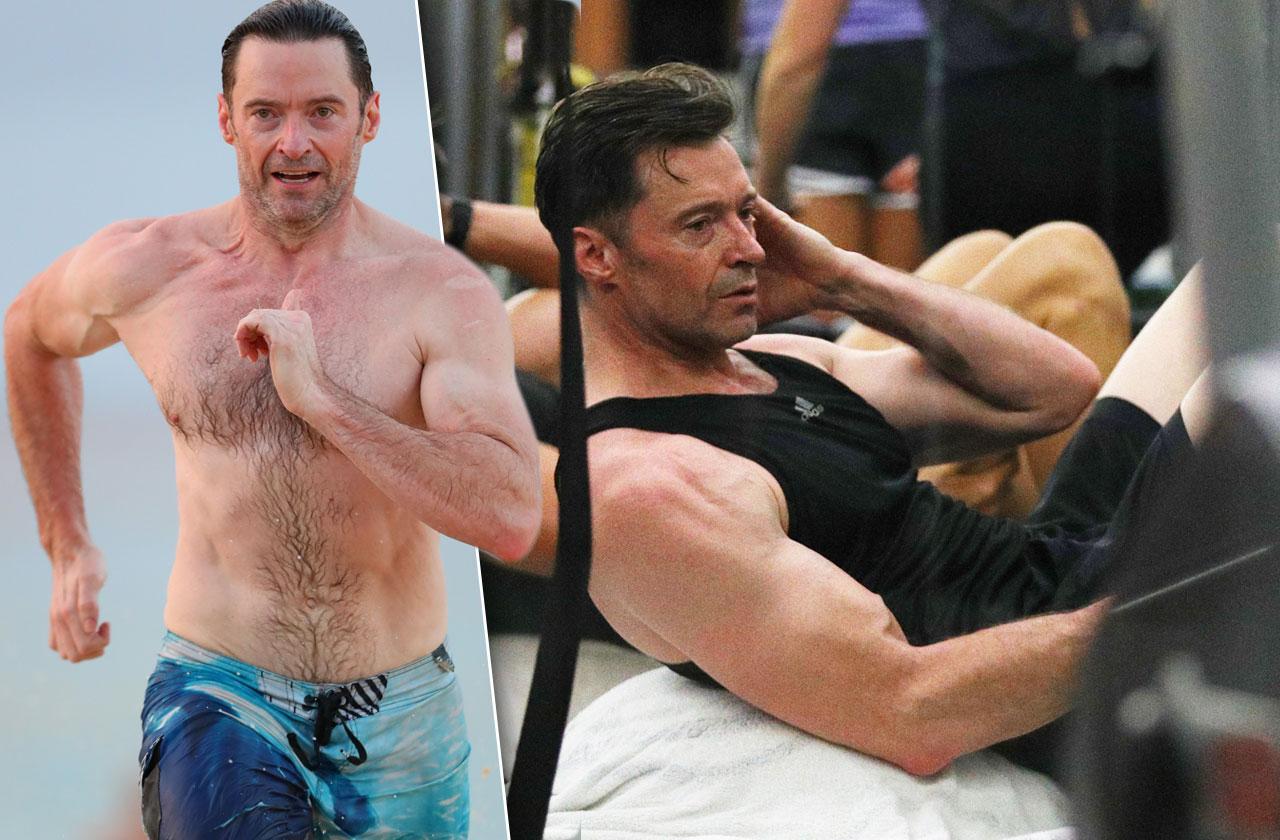 Hugh Jackman Beach Workout Fitness Trainer