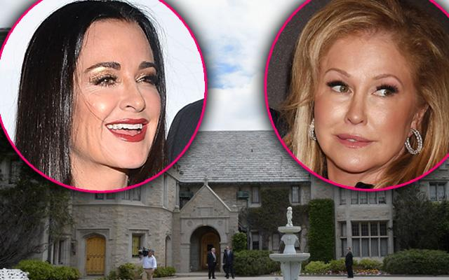 Kyle Richards Kathy Hilton Feud Playboy Mansion