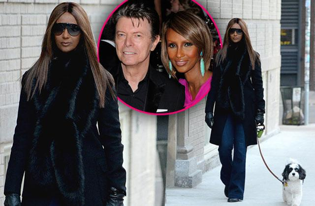 //david bowie death wife iman spotted out first time pp