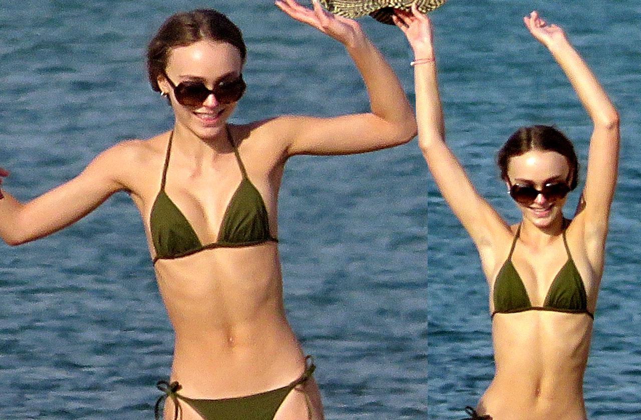 Lily rose depp thin ribs bikini