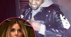 //kanye parties in paris without kim square