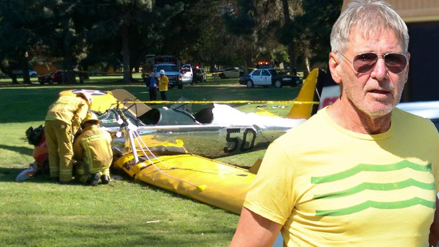 Harrison Ford Crash Lands Airplane