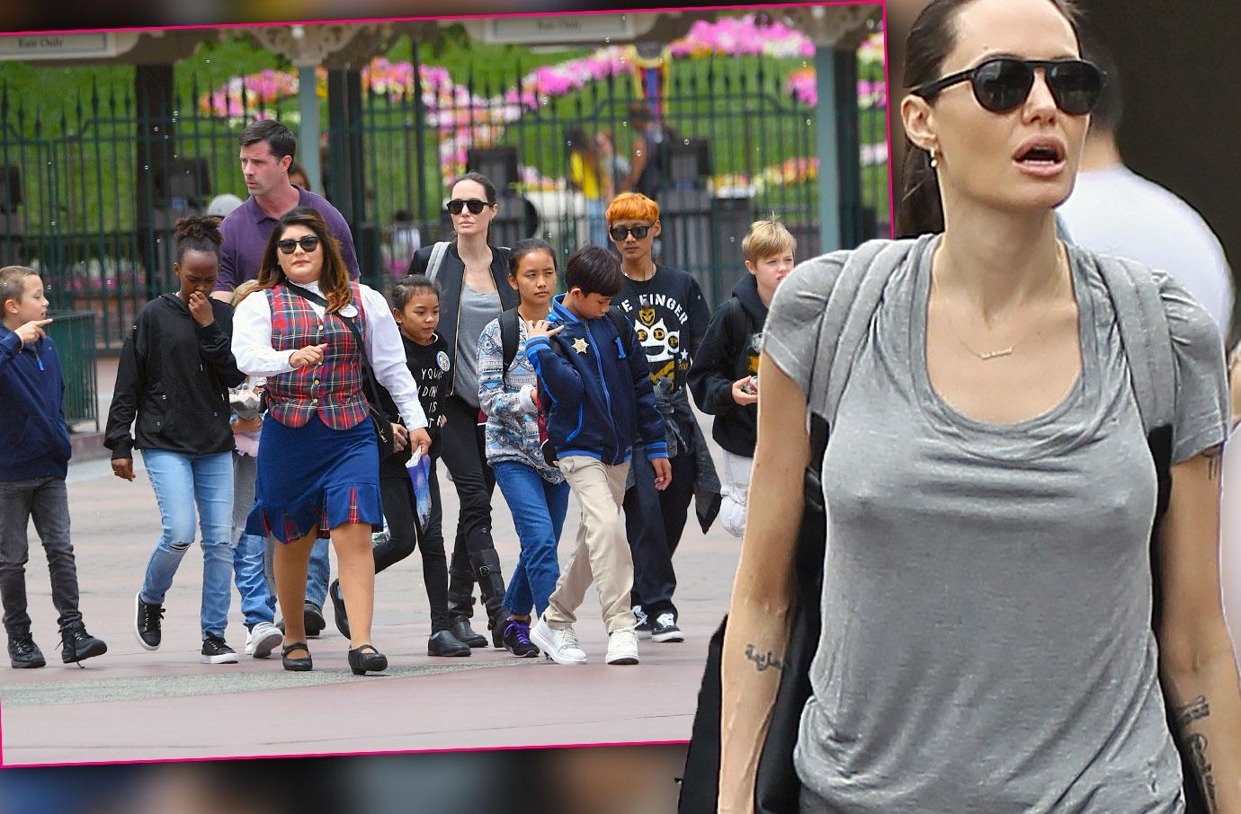 Brad Pitt Angelina Jolie Kids Shiloh Birthday Disneyland Pics