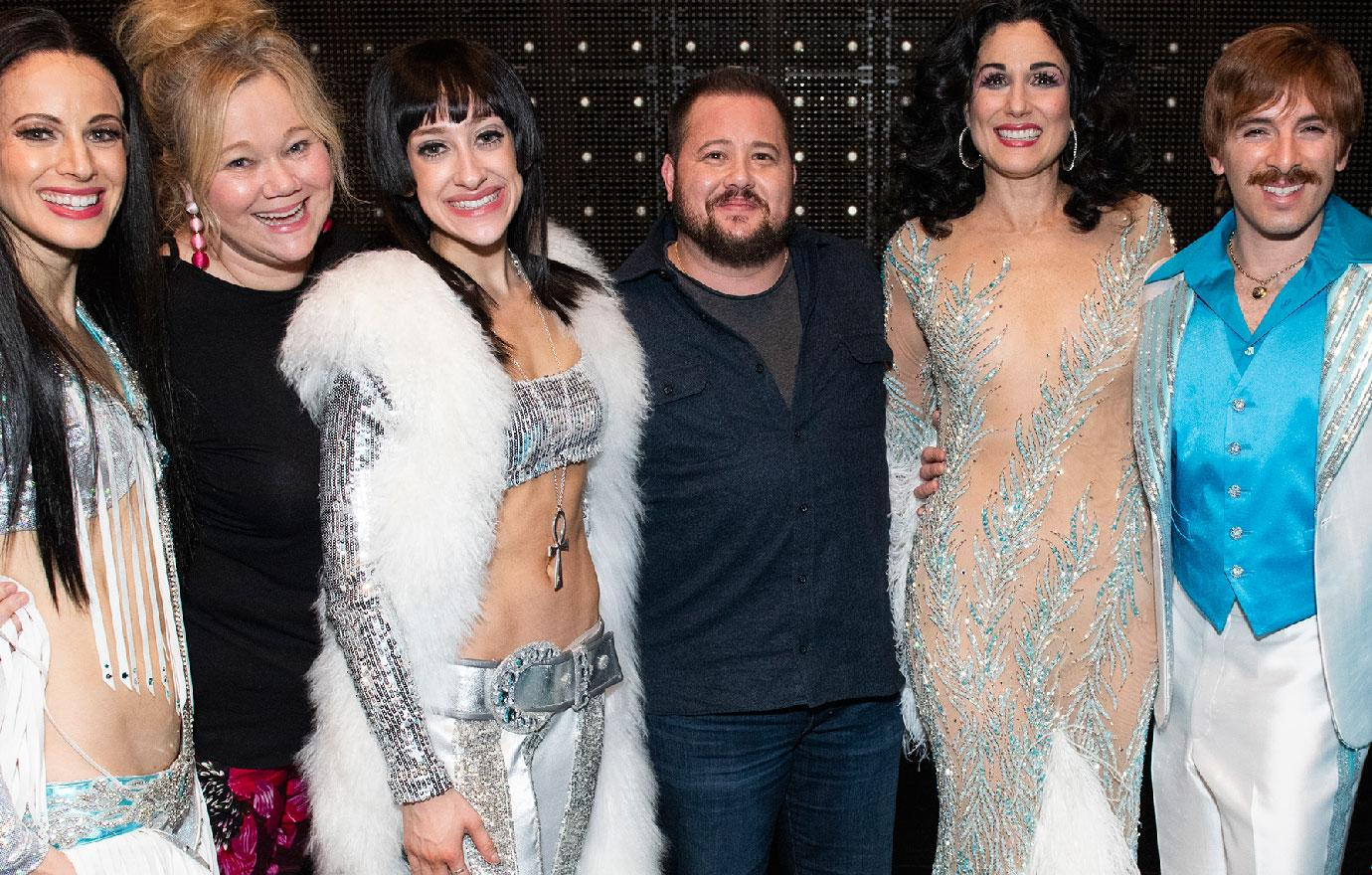 Chaz Bono Visits Backstage At Cher Show On Broadway