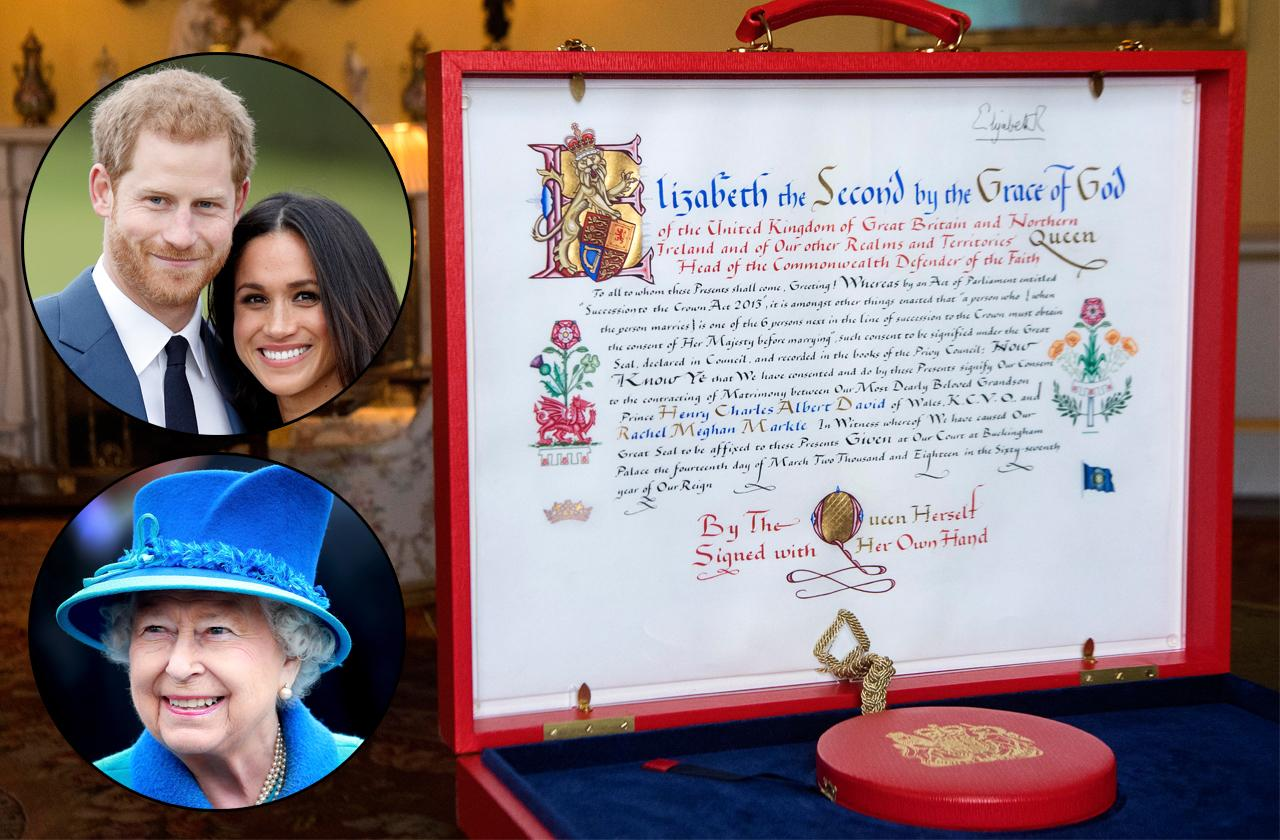 //the queen gives royal approval for wedding pp