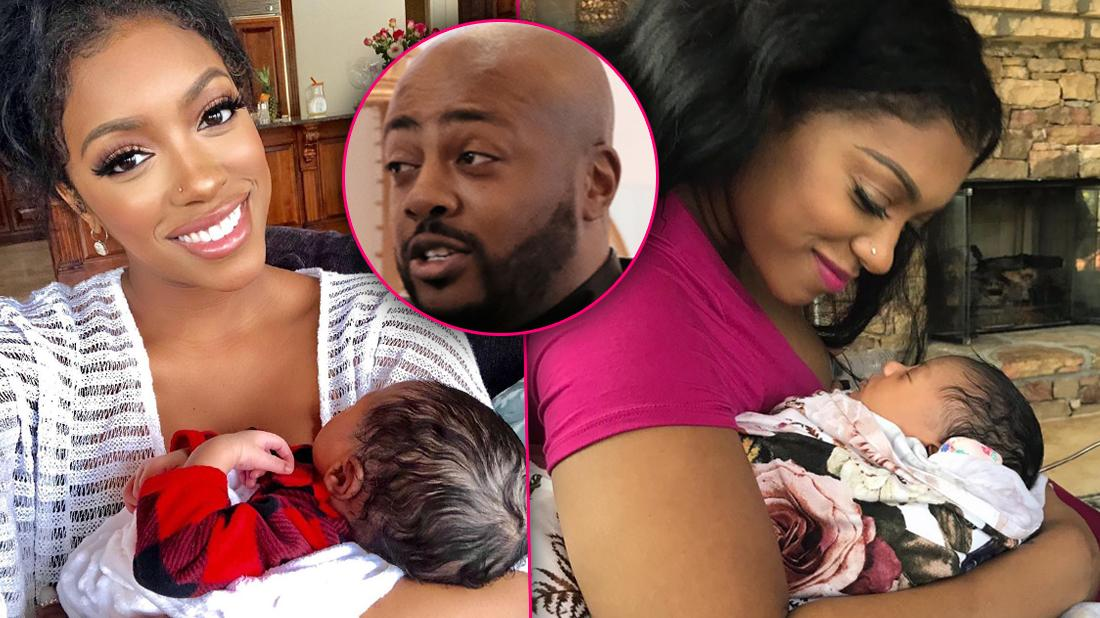 Porsha Williams Happy wth Baby Inset of Dennis Looking Upset