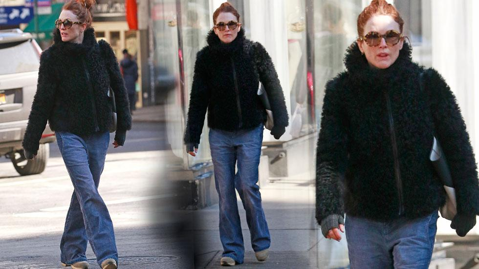 Julianne Moore Shops In NYC