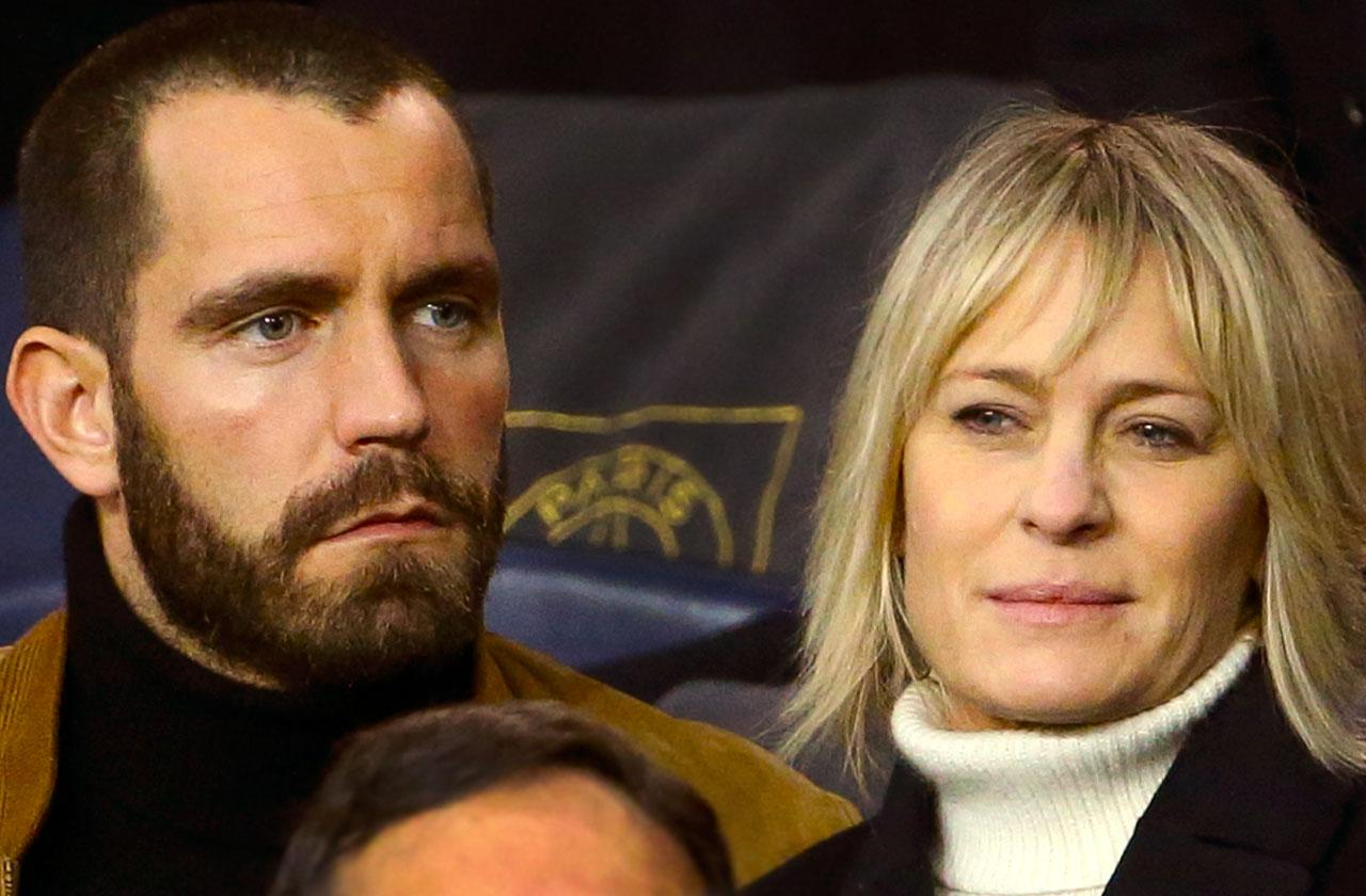 //robin wright marries french boyfriend  pp