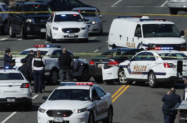 //capitol shooting suspect hits police car pp