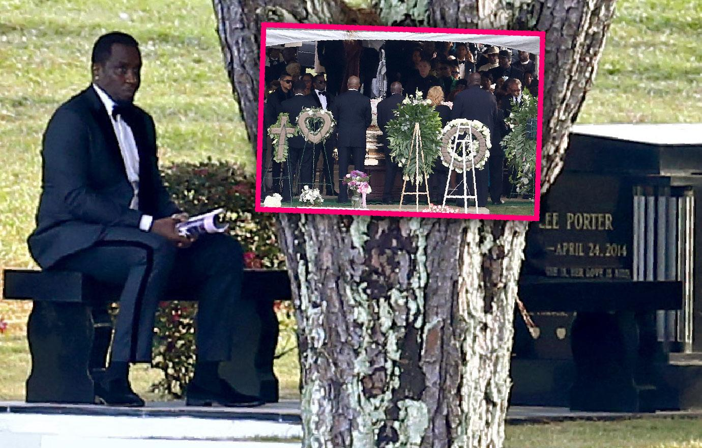 Diddy Delivers Eulogy Holds Hands With Mary J. Blige Kim Porter Funeral