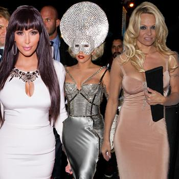 //kim kardashian lady gaga pamela anderson best worst wacky nye