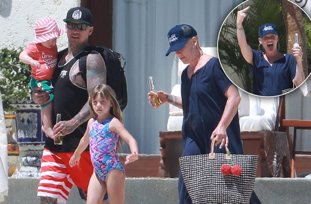Pink Carey Hart Beach Kids