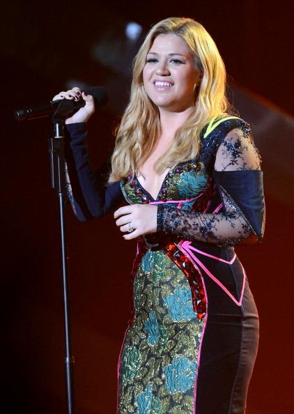 // singer kelly clarkson onstage at vh divas gettyimages