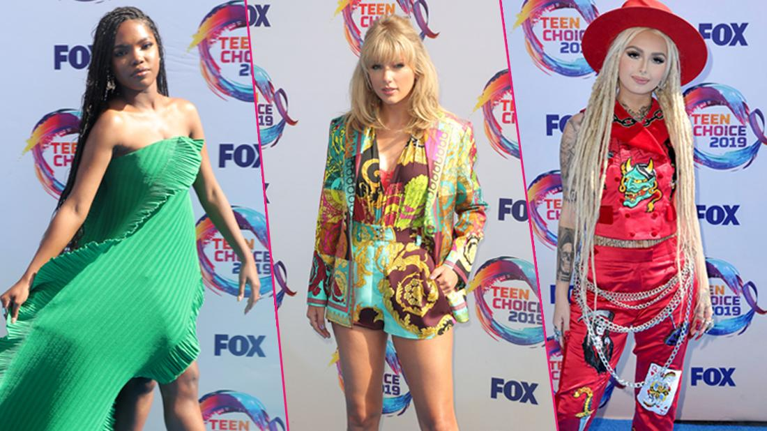 (L-R)Ryan Destiny, Taylor Swift, Zhavia Ward