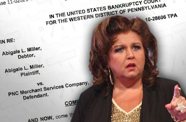 //abby lee miller credit card fight