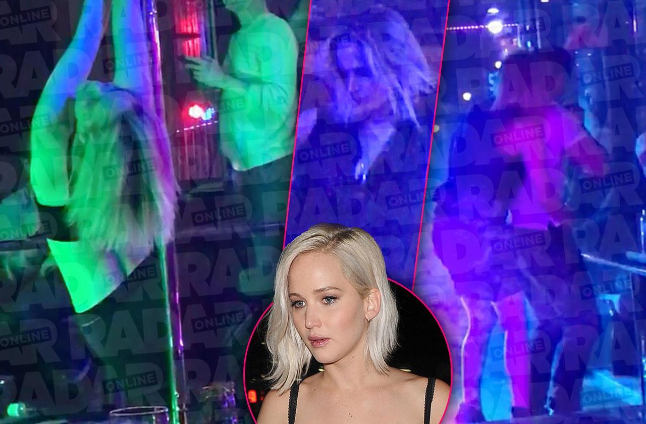 Jennifer Lawrence Shirtless In Stripper Pole Club Dance