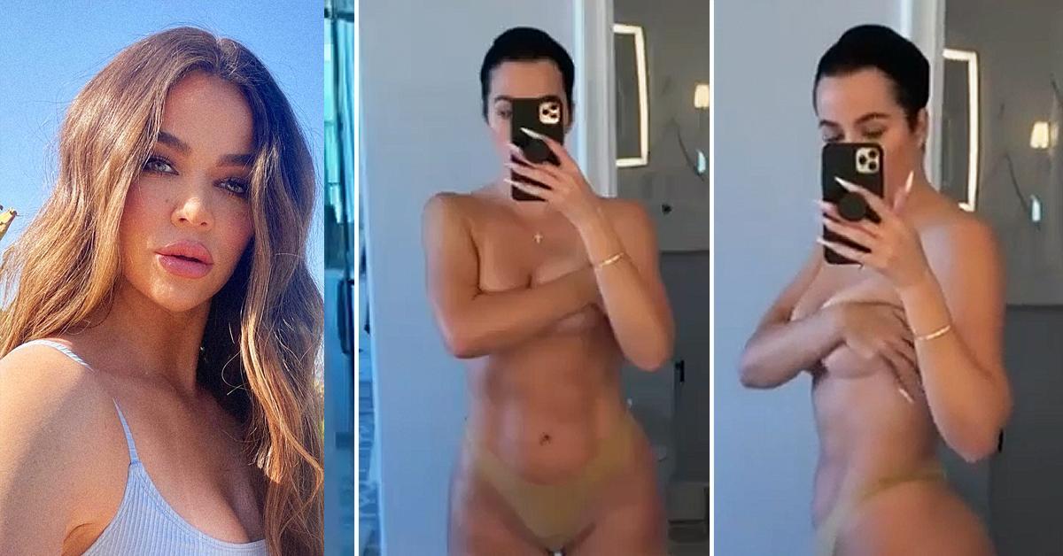 khloe kardashian breaks silence on bikini photo leak rf