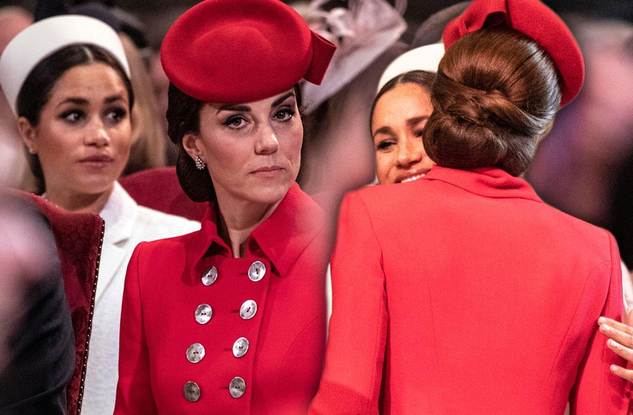 Meghan Markle Kate Middleton Kiss Hug Feud