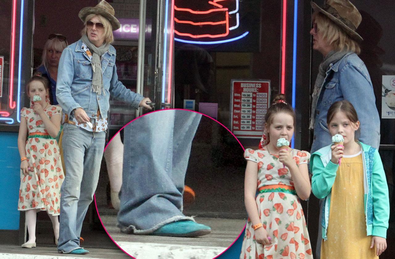 Lisa Marie Presley's Ex Michael Lockwood Wears His Own Blue Suede Shoes While Visiting Kids