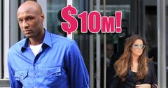 Khloe Kardashian and Lamar Odom divorce 10 million