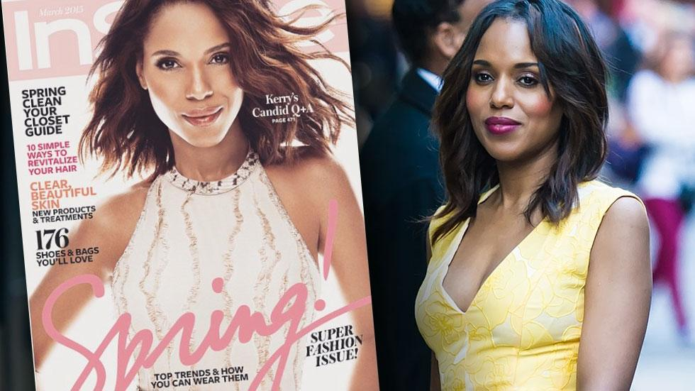 Kerry Washington's Lighter Skin On InStyle Cover
