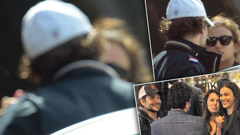 Bradley Cooper & Irina Shayk Dating Kiss Hotel