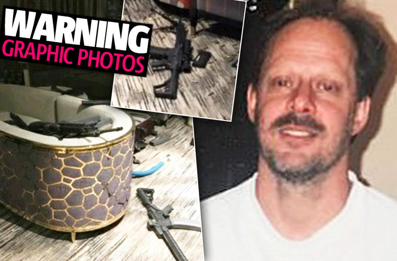 vegas shooter dead body crime scene photos