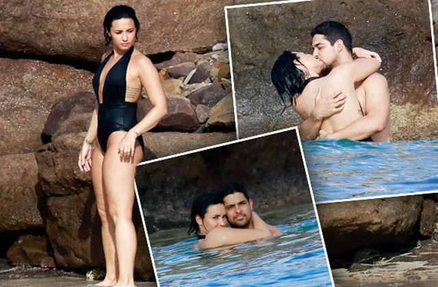 //demi lovato wilmer valderrama dating bikini kiss vacation pp