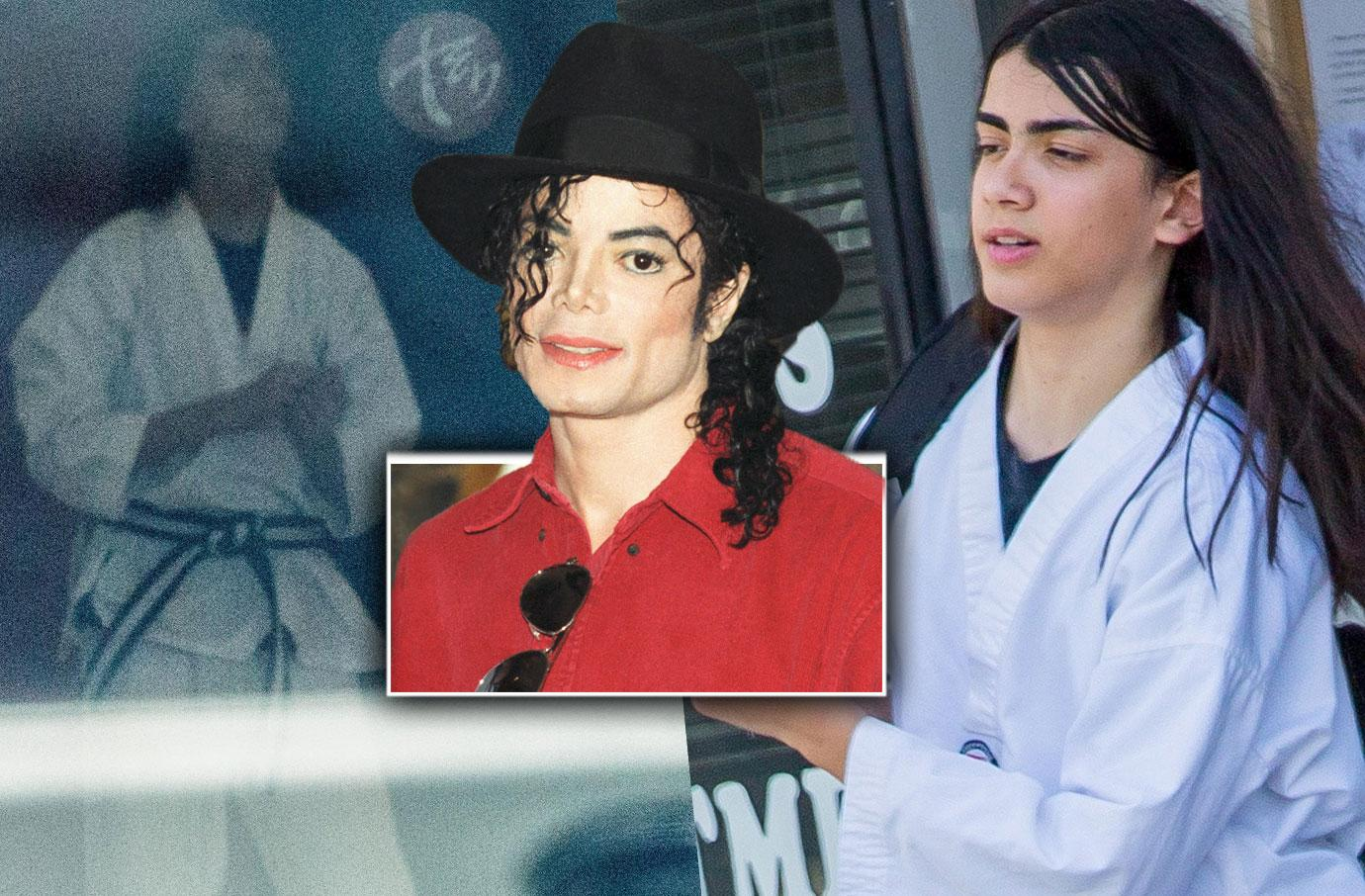 Michael Jackson Reclusive Son Blanket Takes Martial Arts Class