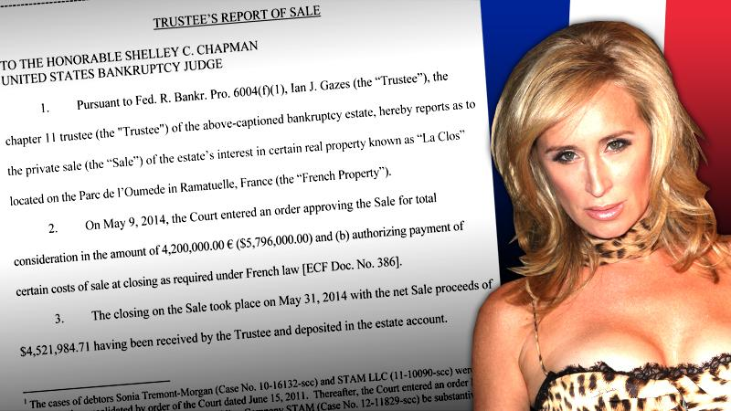 //sonja morgan sells   french estate help pay off bankruptcy debt pp sl
