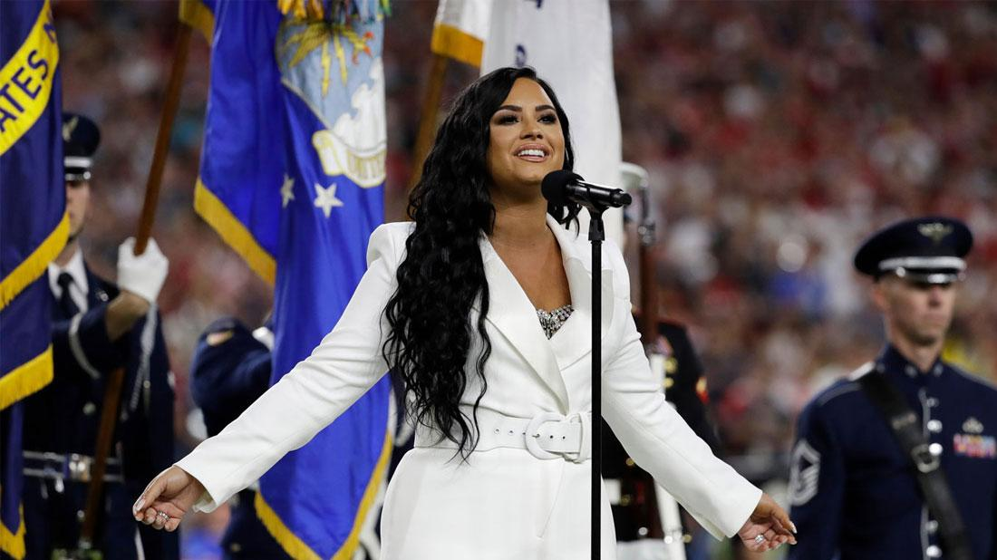 Super Bowl Star: Demi Lovato Crushes The National Anthem