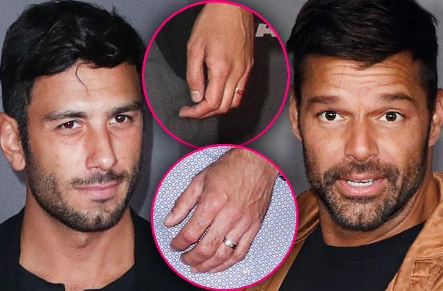 Ricky Martin Married Boyfriend Wedding Rings Kids Red Carpet Pics