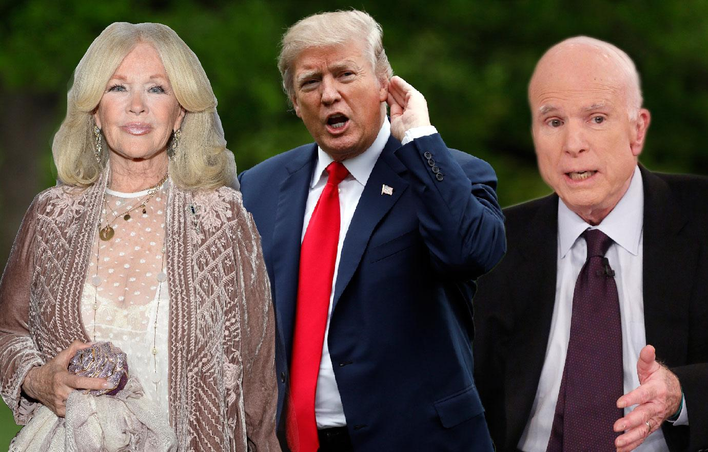 Deathly Ill John McCain Bans Trump From Funeral But What About Connie Stevens