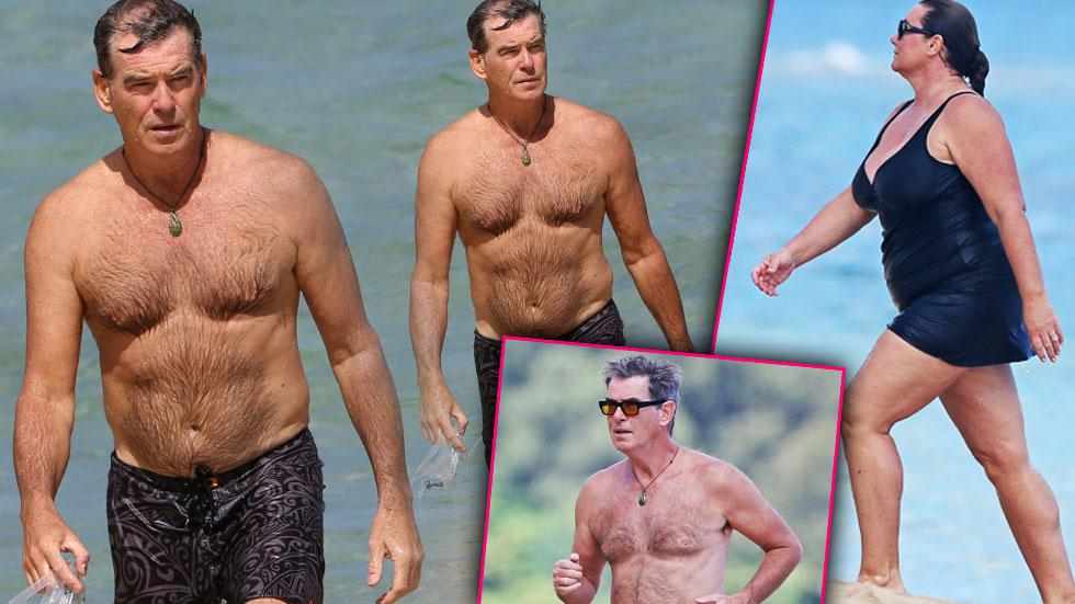 //pierce brosnan shirtless keely shaye bikini hawaii snorkeling​​
