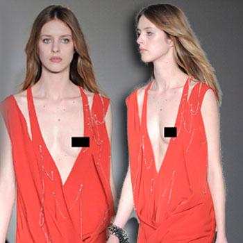 //model nip slip fashion week