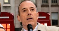 Matt Lauer on set for The Today Show.