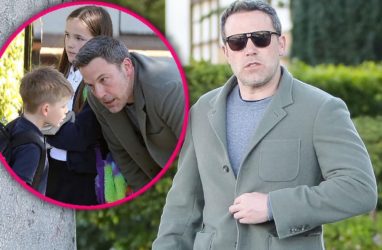 Ben Affleck Takes Son Samuel To School
