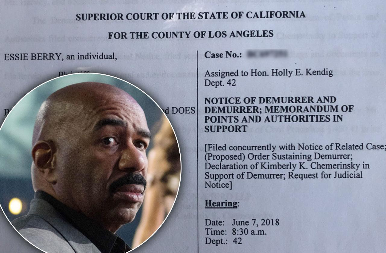 steve harvey challenges complaint accused stalking harassment new lawsuit essie berry