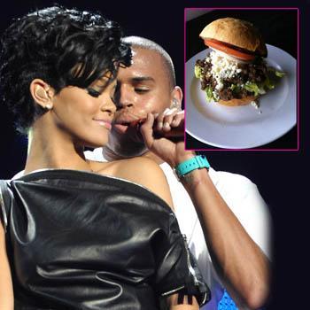 //rihanna chris brown burger splash