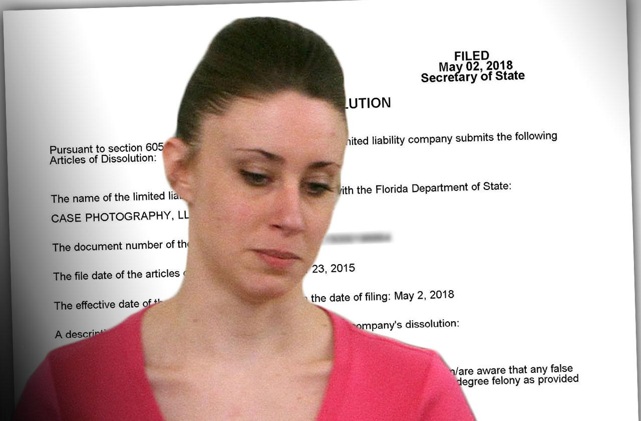 //Casey Anthony Photography Business Dissolved pp