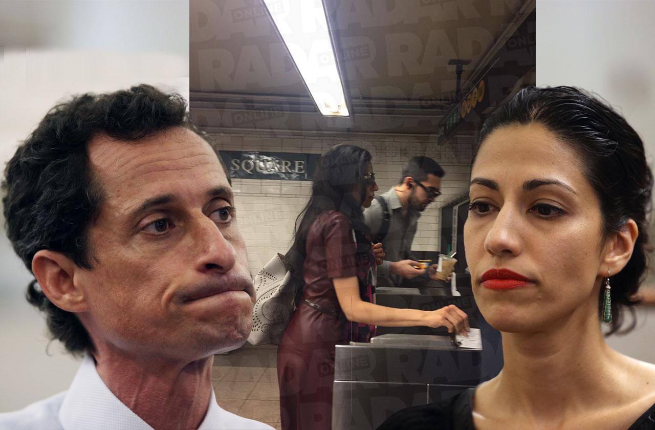 Huma Abedin Subway Station Anthony Weiner Apartment