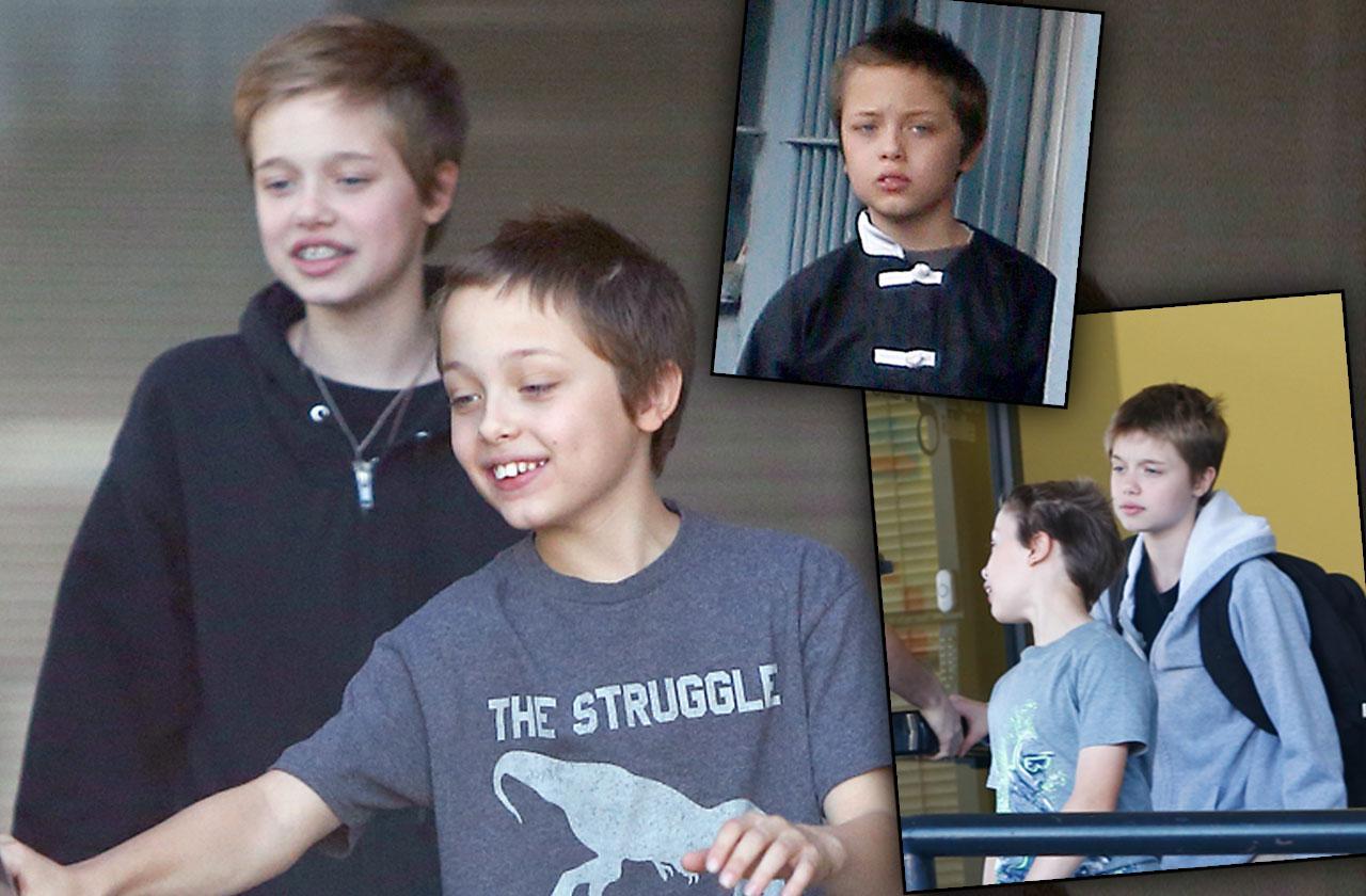 Angelina Jolie Brad Pitt Kids Bonding Manny Divorce