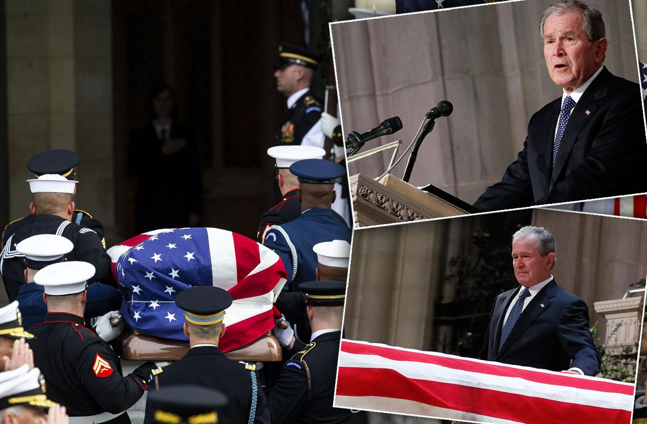 George H W Bush Funeral Service Photos