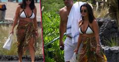 Kyle Richards Flashes Bikini Body At Camille Grammer Hawaii Wedding